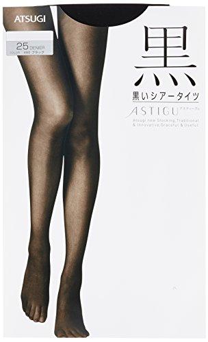[アツギ] ストッキング ASTIGU(アスティーグ) 【黒】 25デニール シアータイツ 〈3足組〉FP6290 レディース ブラック 日本 M~L-(日本サイズM-L相当)