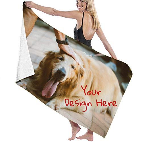 Asciugamano da spiaggia con foto personalizzate, asciugamano da bagno sportivo...