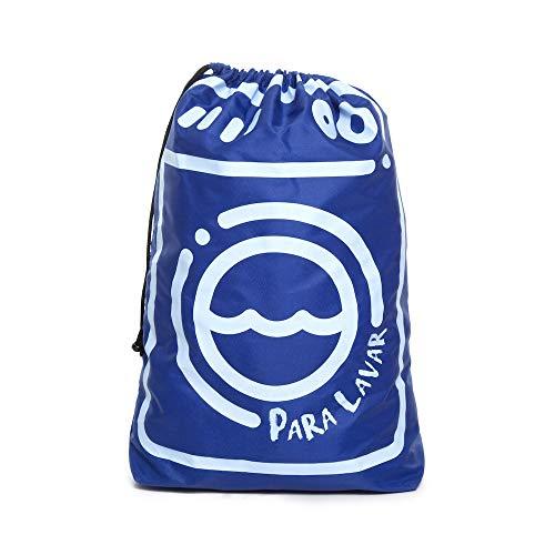 Saco Organizador Roupa Suja Dobrável Multiuso - Azul, Momis Petit, Azul, Único