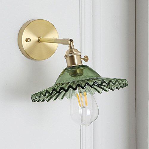 AOKARLIA Améliorer Moderne Appliques Lumières, Verre Applique Lumineuse / E27 Edison Support Lumière/Chambre Lumières en Laiton