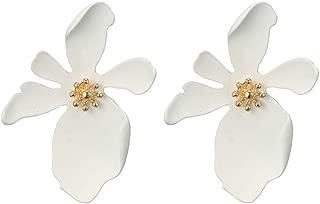 Women Casual Earrings Fresh Temperament 5-color Cute Petal Flower Earrings Alloy Earrings