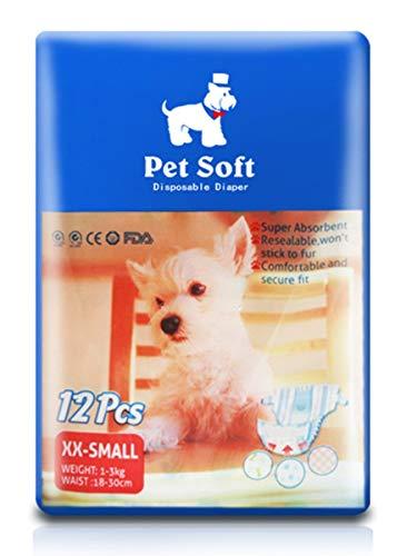 KICCOLY - Pannolini USA e Getta per Cani Femminili, Super assorbenti e Morbidi, con Pannolini per Cani e Gatti
