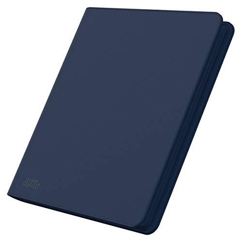 Ultimate Guard UGD10344 QuadRow - Carpeta con Cremallera y Hojas con 12 Fundas para Cartas, Color Azul Oscuro