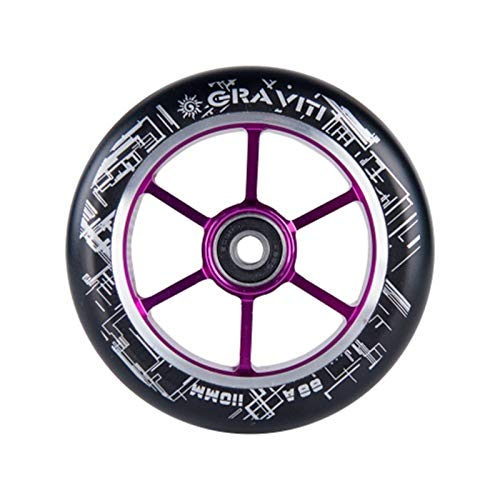 QXYOGO Ruedas Patinete 110mm Pro Scooter Ruedas de núcleo de Aluminio 2pcs 110mm Pro Stunt Scooter Wheels 1 (Color : Violet)