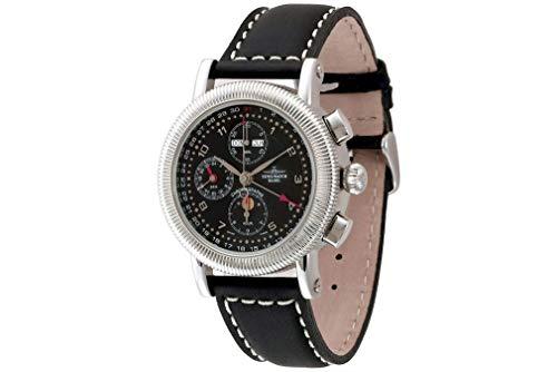 Zeno-Watch - Armbanduhr - Herren - Nostalgia Chronograph Full Calendar - 98081-c1