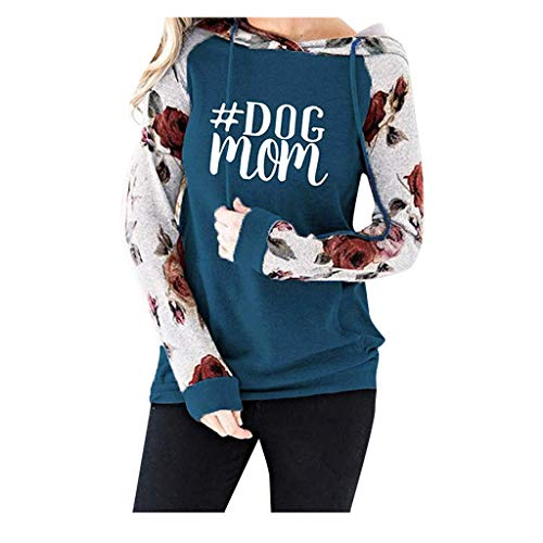 Great Features Of SHUSUEN Sweatshirt Floral Long Sleeve Drawstring Casual Hoodies Pullover Tops with...