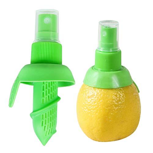 Leikance Obststiel-Spray-Set, Zitronen-Sprüher, manuelle Zitronenpresse, Limettenentsafter, winziger Saft-Sprüher, 2 Stück