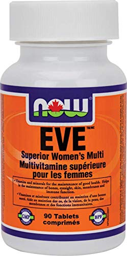 NOW EVE Superior Women's Multi 2/Day 90 Tablets, 40 g