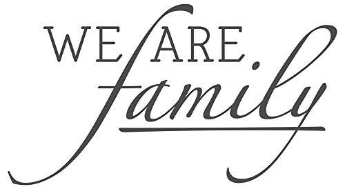 dekodino® Wandtattoo Spruch Familie We are family Deko