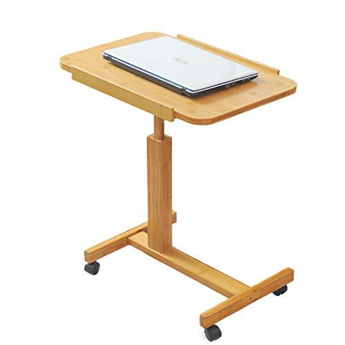 ZXCMNB Klapptisch, Klappbarer Kleiner Tisch for Den Schreibtisch Im Haushalt, Höhen- Und Winkelverstellbarer Laptop-Tisch Am Bett Aus Bambus (Size : 70 * 50cm)