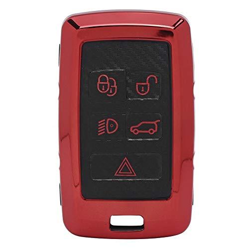 Mando a distancia para coche, Fob de entrada para coche, Funda para llave de coche con llave remota, para Land Rover Range Rover Men Car Smart Key Car(red)