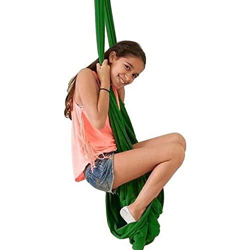 CWYP-MS Hamaca de Yoga aérea, Swing de Terapia Interior Ajustable para niños con Necesidad Especial (Hardware Incluido) Hamaca de Abrazo para niños con Autismo, TDAH, Aspergers