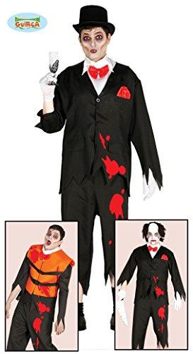 Bräutigam Killer Leichen Halloween Kostüm für Herren Geister Halloweenkostüm Geist Opfer Gr. M/L, Größe:M