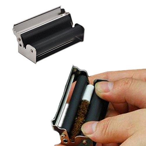 Tobacco Roller,EnjoCho 1PC Metal Manual Roller Machine Blunt Fast Cigar Rolling Cigarette Weed Raw (70mm/2.75inch, Black)