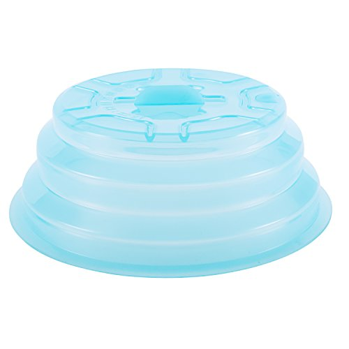 Kichwit Collapsible Silicone Microwave Plate Cover Splatter Guard,...