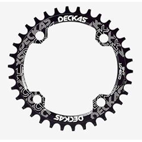Disco ovalado de disco de bicicleta de montaña de disco de placa de dientes negativo positivo / 32T / 34T / 36T / 38T, color Noir Disque ovale 38T, tamaño talla única