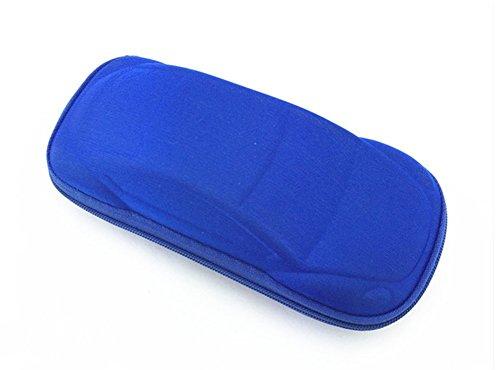Étui à lunettes Kentop - Pour enfant - Avec fermeture éclair - Bleu foncé