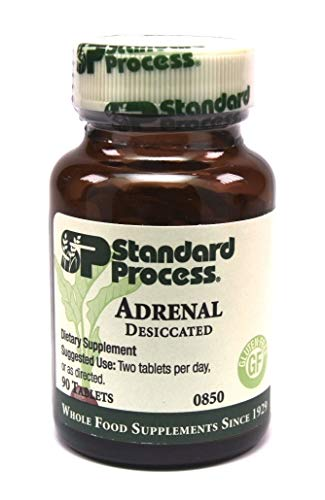 Standard Process- Adrenal Desiccated / Adrenal Support for Energy Production  Immune System Function and Adrenal Health  Gluten Free  90 Tablets