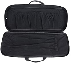 XTACER Recurve Takedown Bow Case Fully Padded Case with Front Zipped Pocket, Arrow Tube Holder (Black)