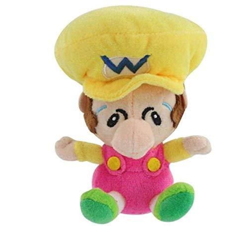 15 cm Super Mario Son pluche pop kan speelgoed Ragdoll Kids passeren begeleidende speelgoed rugzak decoratie hanger-geel