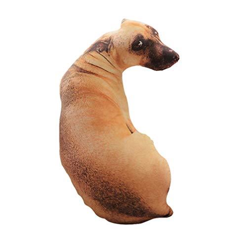 STOBOK Almohada de Tiro en Forma de Perro 3D Cojín de Felpa Suave Sofá de Juguete Asiento de Coche Almohada Decorativa Almohada para Mascotas (Sabueso) 70 Cm