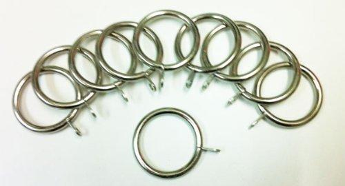 Emma Barclay Lifestyle Lot de 8 Anneaux de Rideaux en métal Argenté brossé 45-48 mm