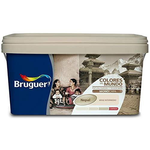 Bruguer 61012 Pintura paredes y techos, Nepal beige intermedio, 4 litros
