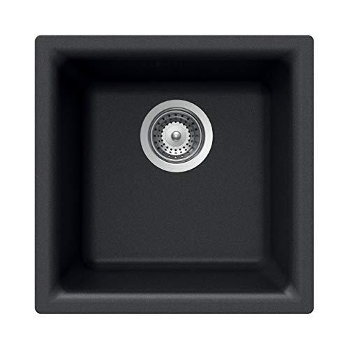 HOUZER E-100 MIDNITE Quartztone Sink, Black