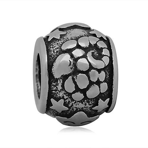 Andante-Stones zilveren bedel charm sterrenbeeld raam element bal voor European Beads + organza zakje