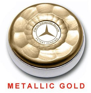 Fantastic Prices! Zieglerworld Table Large Shuffleboard Puck Weights - 4 Pucks - Metallic Gold Color...