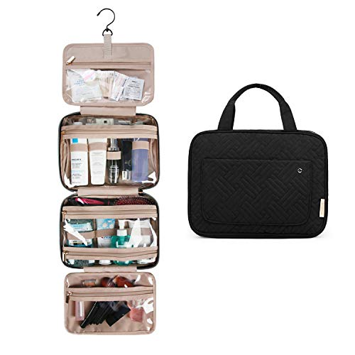 BAGSMART Toiletry Bag Travel Bag with hanging hook, Water-resistant Makeup Cosmetic Bag Travel Organizer