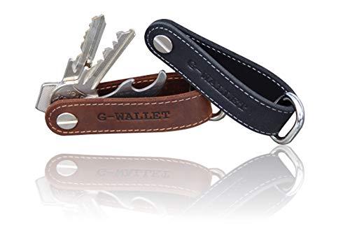 G-WALLET® DER Key-Organizer mit Multitool Schlüssel-Etui für 1-9 Schlüssel Echt-Leder Hochwertig verarbeiteter Schlüssel-Anhänger Geschenkidee Key-Wallet (Vintage-Braun)