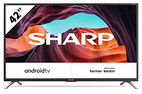 Sharp 42CI6EA - TV Android 42' (Full HD, 3 x HDMI, 3 x USB, Bluetooth), Google Assistant, Chromecast, Altavoces Harman/kardon, DTS Virtual X, Active Motion 400, Color Negro