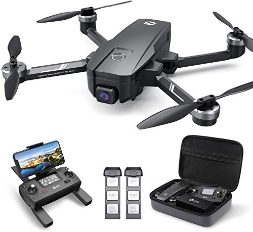 HOLY STONE HS720E 4K EIS Drone with UHD Camera for Adults, Easy GPS Quadcopter for Beginner with 46mins Flight Time, Brushless Motor, 2.4GHz Transmission, Auto Return Home, Follow Me &Anti-shake Cam