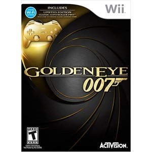 "James Bond 007: Golden Eye & Gold Controller w/ Bonus Exclusive ""Cheaters"" Shirt (Wii)"