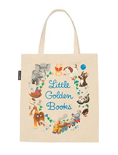Bolsa de transporte de lona com tema literário e livro para amantes de livros, leitores e bibliófilos, Little Golden Books, Large