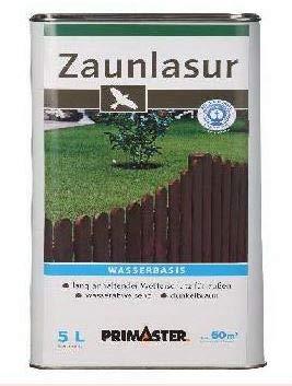 Primaster Zaunlasur 5 Liter dunkelbraun Holzlasur wetterfest Wetterschutzlasur