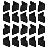 uxcell 40mm x 40mm Angle Iron Foot Pads L Shaped PVC Furniture Desk Leg Caps End Covers Floor Protector Black 20 Pcs