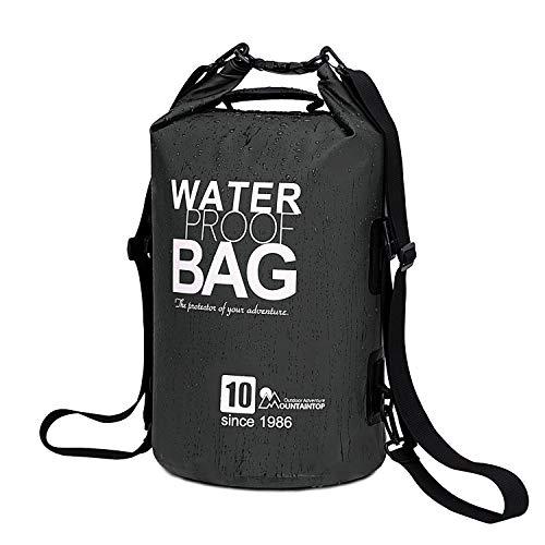 MOUNTAINTOP Trockentasche 10L wasserdichte Taschen,ideal für Bootfahren/Kajakfahren/Angeln/Rafting/Schwimmen/Camping