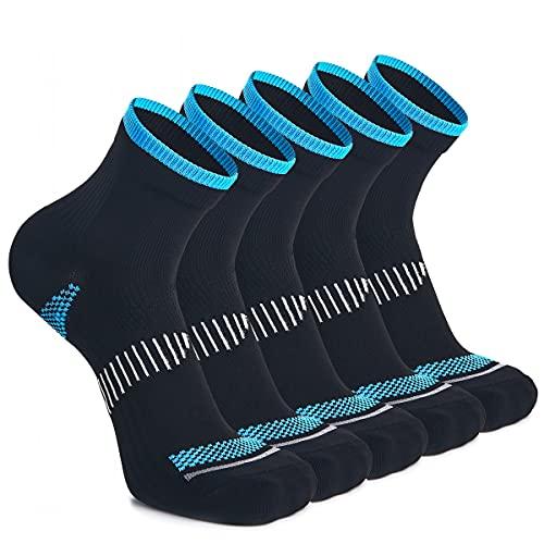 WEEKEND PENINSULA 5 Pares Calcetines de Running Deportivos Compresión Ligera Hombres Mujer de Deporte Transpirables