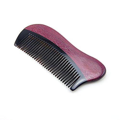 TRIXES Peigne à Cheveux en Plastique Robuste Unisexe avec Poignée en Bois