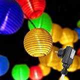 Gresonic 20er Bunt LED Lichterkette Lampion/Laternen Deko für Garten Weihnachten Party Hochzeit...