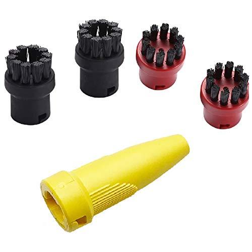 Senmubery Cepillo Redondo para KARCHER SC1 SC2 SC3 SC4 SC5 CTK10 SG4 / 4 Etc Serie SC Piezas de Limpiador de Boquilla de Repuesto