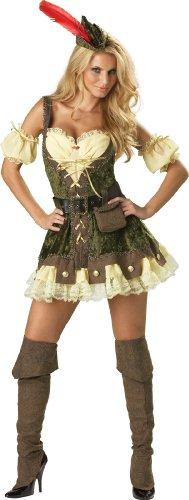 Big Sale InCharacter Costumes, LLC Women's Racy Robin Hood Costume, Tan/Green, Small