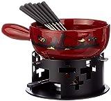 KUHN RIKON 32178Souffleur Set à Fondue de Fromage Cor 9pièces Comprenant Caquelon à Fondue savoyarde, brûleur, pâte Combustible et 6fourchettes