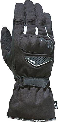 Ixon Pro Arrow - Guantes de piel para motociclista, color blanco y negro (talla XXXL)