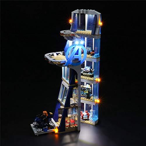 UUK USB-Beleuchtungsset für (Marvel Avengers Tower Battle) Bausteine Modell, LED-Lichtsatz Kompatibel...