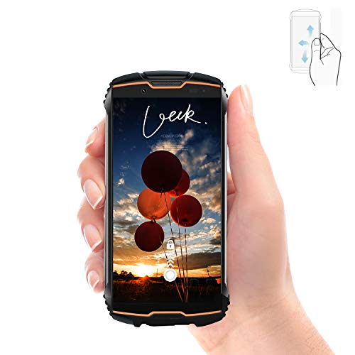 CUBOT Kingkong Mini Outdoor Handy Ohne Vertrag Kleines 4 Zoll Display Android 9 3GB + 32GB Smartphone Wasserdicht Stoßfest Staubdicht Dual SIM 4G Dual Kamera Einhandbedienung 2000 mAh(Orange)