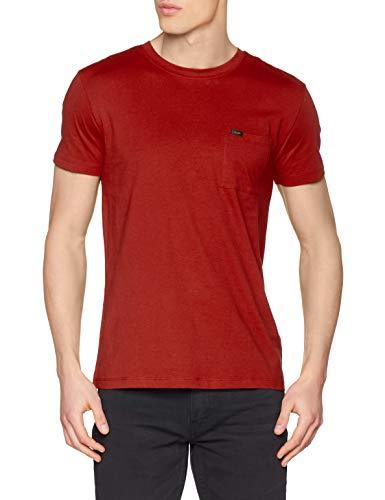 Lee Ultimate Pocket tee Camiseta, Rojo Ocre, M para Hombre