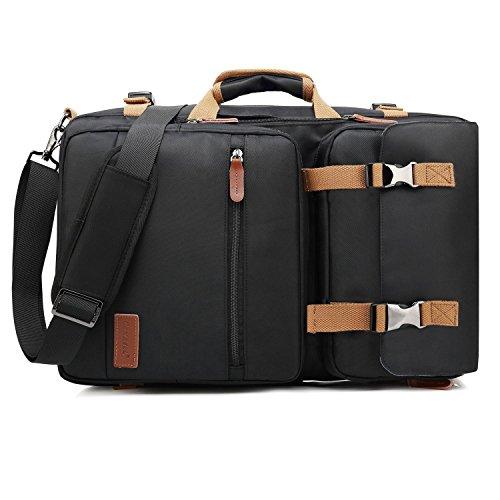 CoolBELL 15,6 Zoll umwandelbar Aktentasche Rucksack Messenger Bag Mehrzweck Reiserucksack Herren Umhängetasche Schultertasche Business Travel Backpack Laptoptasche Notebooktasche(Schwarz)